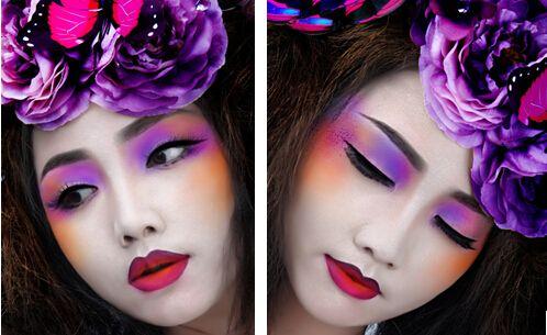 风情万种的时尚彩妆