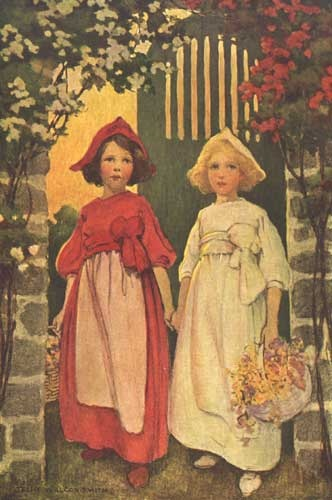 雪白和玫瑰红
