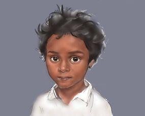 小黑孩桑博