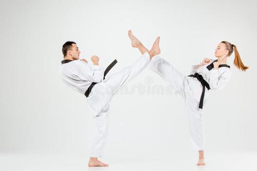 中段踢和下段旋踢训练