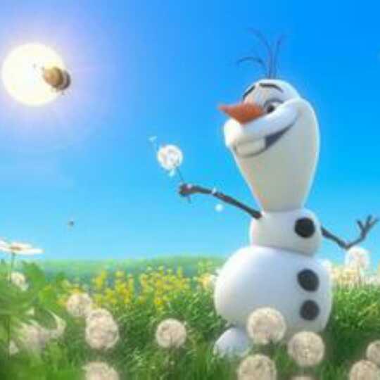 夏天的雪人