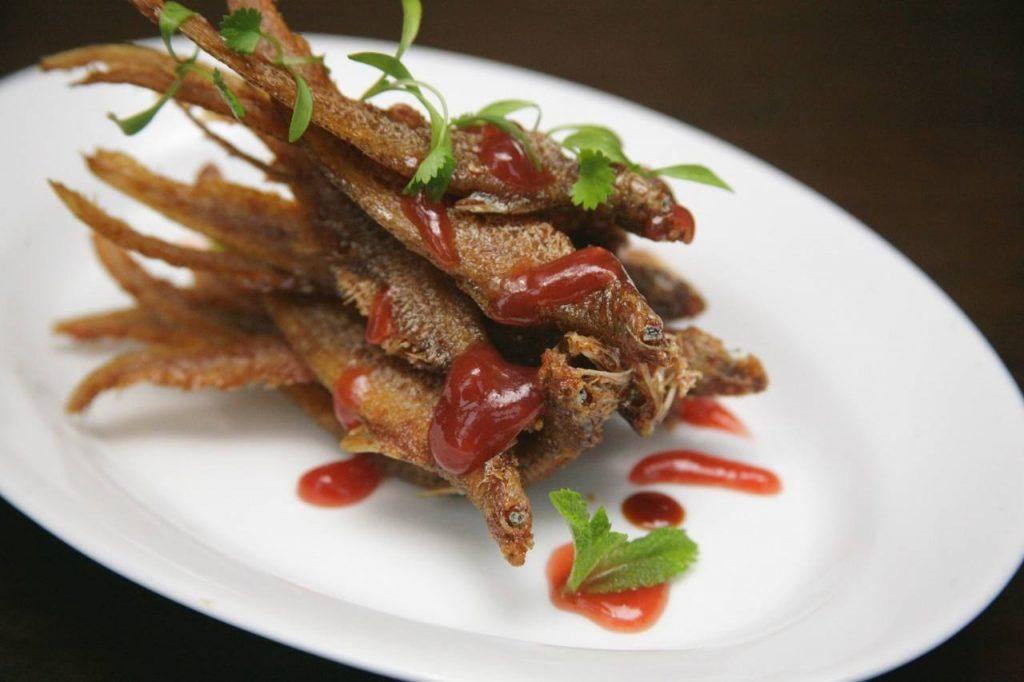 茶香凤尾鱼