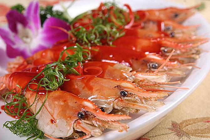 梅子煎大虾
