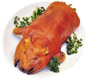 茶香脆皮乳猪