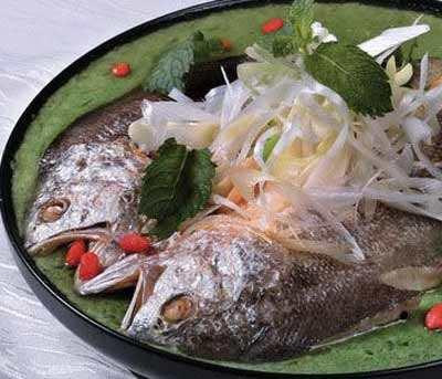 山水豆腐蒸黄鱼