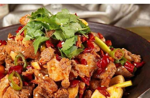 干锅虾油牛肉
